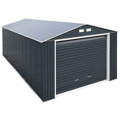 12 x 20 Value Metal Garage - Anthracite Grey (3.72m x 6.04m)
