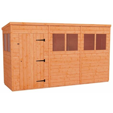 12 x 4 Tongue and Groove Pent Shed (12mm Tongue and Groove Floor and Roof)