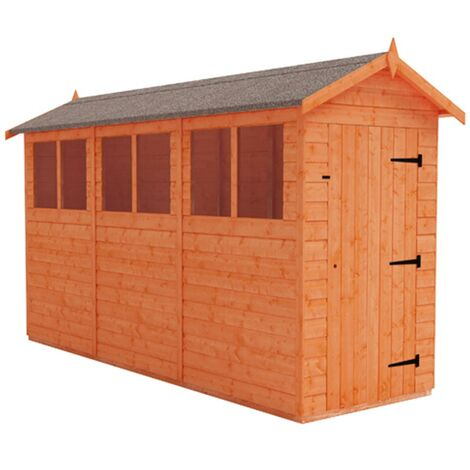 12 x 4 Tongue and Groove Shed (12mm Tongue and Groove Floor and Apex Roof)