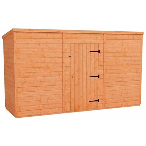 12 x 4 Windowless Tongue and Groove Pent Shed (12mm Tongue and Groove Floor and Roof)