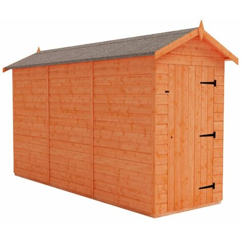 12 x 4 Windowless Tongue and Groove Shed (12mm Tongue and Groove Floor and Apex Roof)