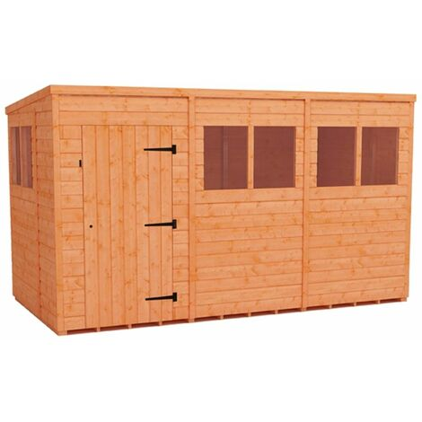 12 x 6 Tongue and Groove Pent Shed (12mm Tongue and Groove Floor and Roof)