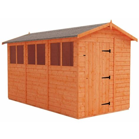 12 x 6 Tongue and Groove Shed (12mm Tongue and Groove Floor and Apex Roof)