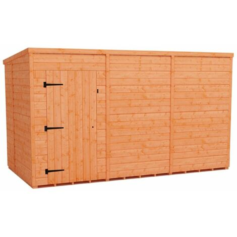 12 x 6 Windowless Tongue and Groove Pent Shed (12mm Tongue and Groove Floor and Roof)
