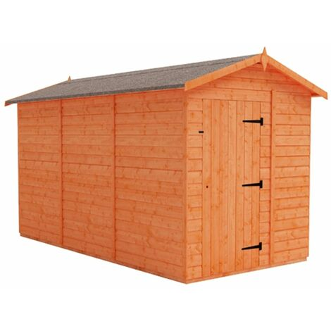 12 x 6 Windowless Tongue and Groove Shed (12mm Tongue and Groove Floor and Apex Roof)