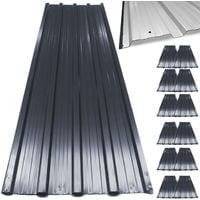 12 x Aluminum Roof Sheets Green or Anthracite – Galvanized Roofing Cladding Panels - Corrugated / Trapezodial 7 m²