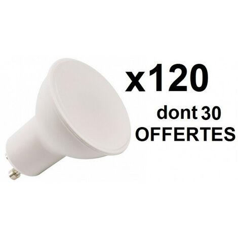 120 ampoules LED GU10 6W=50W 100D: 90 + 30 OFFERTES - plusieurs modèles disponibles