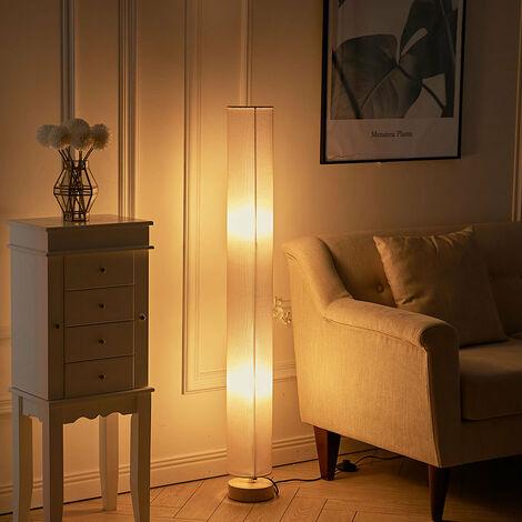 120 cm Tall Floor Lamp Lighting Free Standing Round Beige