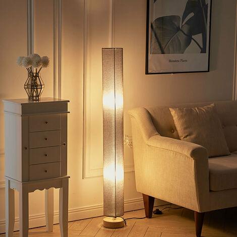 120 cm Tall Floor Lamp Lighting Free Standing Round Grey