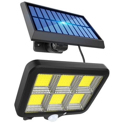 120 COB Split Solar Sensor Wall Lamp Street Light Waterproof Walkway Lighting 3-Speed