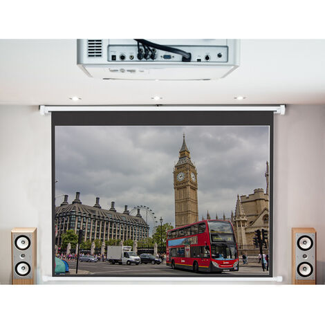 "main image of ""120"" Electric Projector Screen 4:3 Motorised Matte White School Cinema"""