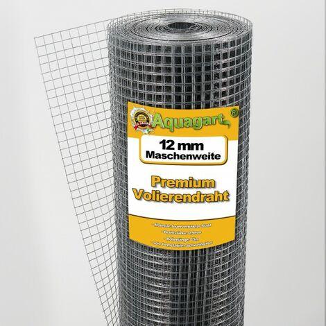 120 m x 1 m grillage pour volière, grille métallique, grillage soudé, clôture en fil de fer, galvanisé à chaud