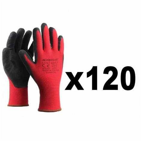 120 Paires de gants de protection manutention générale SMART GRIP rouge KAPRIOL - plusieurs modèles disponibles