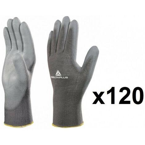 120 paires de Gants tricot polyamide / paume polyuréthane VE702PG DELTA PLUS - plusieurs modèles disponibles