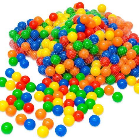 1200 bunte Bälle für Bällebad 5,5cm Babybälle Plastikbälle Baby Spielbälle