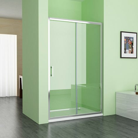 1200 mm MIQU Sliding Shower Door Bathroom Easy Clean Nano Glass Screen Shower Enclosure Cubicle - No Tray