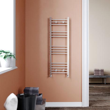 1200 x 400 mm Chrome Bathroom Radiator Straight Heated Towel Rail Radiator