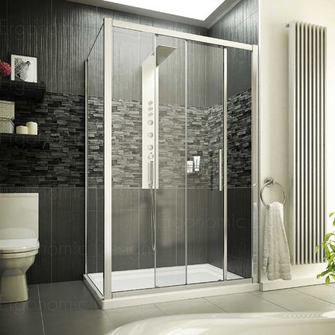 1200 X 760 8mm Glass Sliding Door Shower Enclosure