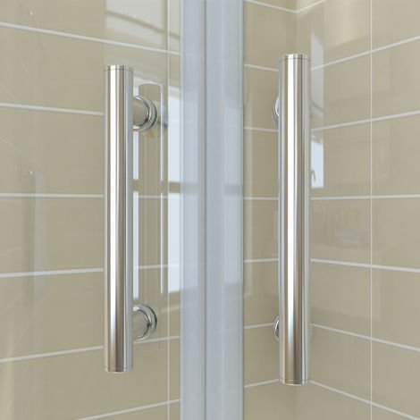 1200 x 800 mm offset Quadrant Shower Enclosure Tempered Sliding Glass Cubicle Door