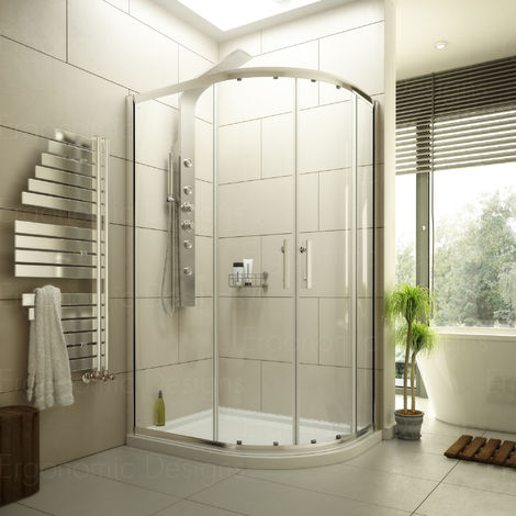 1200 X 800 Offset Quadrant Shower Enclosure 6mm Glass And Rh Tray