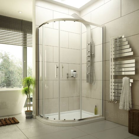 1200 X 800 Offset Quadrant Shower Enclosure With 6mm Glass