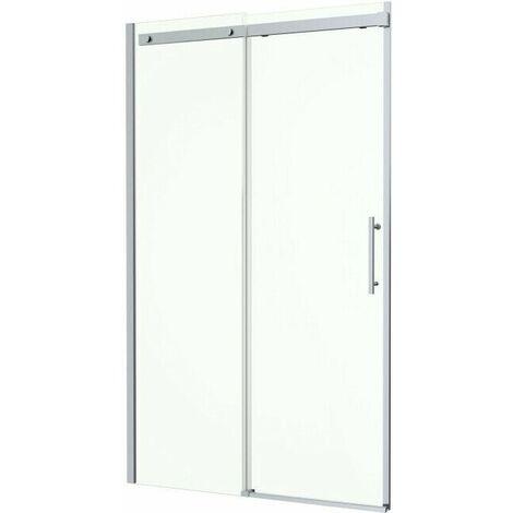 1200 x 800mm Sliding Shower Enclosure Door Side Panel 8mm Frameless Tray Waste