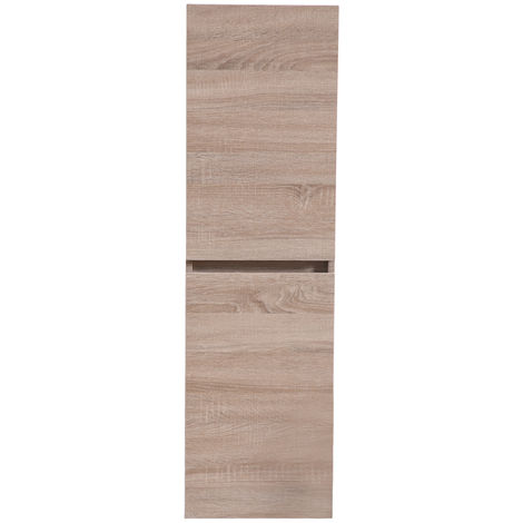1200mm Tall Wall Hung Cabinet Cupboard Bathroom Furniture Unit Light Oak