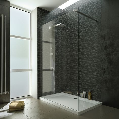 1200mm Wet Room Screen With 10mm Tempered Easy To Clean Safety Glass