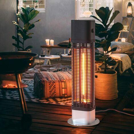 1200W Garden Infrared Patio Heater Floor Standing Metal Electric Warmer