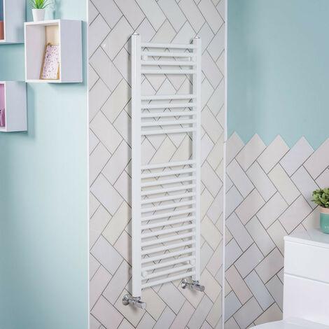 1200x450 Straight Central Heating Towel Rail Bathroom Heated Rad Radiator White