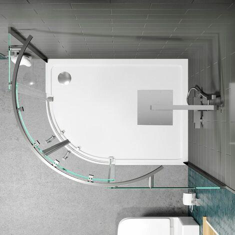 1200x800mm LH Offset Quadrant Shower Enclosure Frameless 8mm