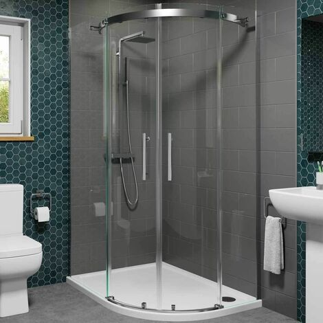 1200x800mm RH Quadrant Shower Enclosure Frameless 8mm