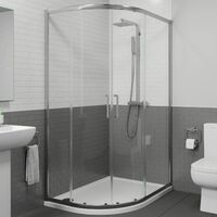1200x900mm LH Offset Quadrant Shower Enclosure 8mm Safety Glass