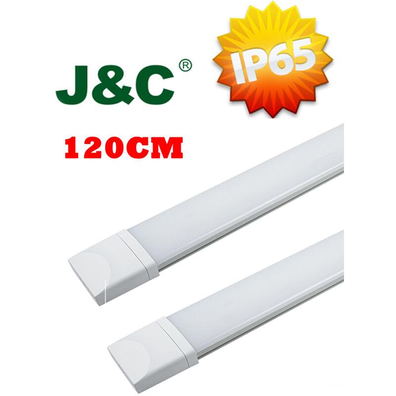 Image of 2 x 120cm (4ft) 2800LM 36W IP65 Natural White LED Tube LED Batten Tri-Proof Diffuser Luminaire Basement Garage Ceiling Light