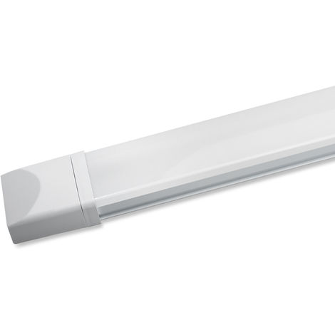 120cm (4ft) 2800LM 36W IP65 Natural White LED Tube LED Batten Tri-Proof Diffuser Luminaire Basement Garage Ceiling Light