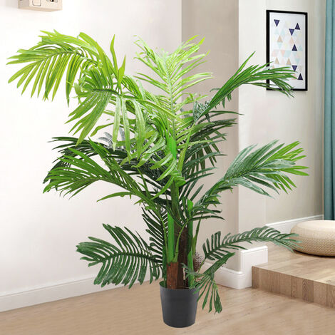 """main image of """"Set of 2 Artificial Palm Tree Hallway Potted Topiary Plant"""""""
