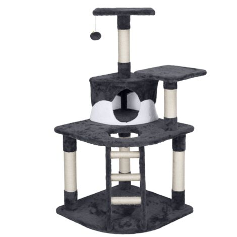 120CM Cat Tree Tower Cat Scratching Post with Spacious Condo, Cozy Platform and Replaceable Dangling Ball