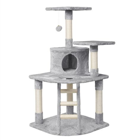120cm Cat Tree Tower, Cat Stand with Cat Scratching Post/Spacious Condo/Cozy Platform/Replaceable Kitten Toy
