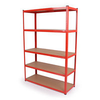 120cm Extra Wide Large Steel 5 Tier Shelving Unit