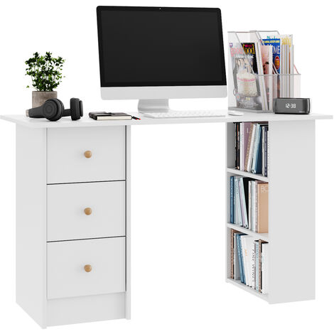 120cm Office Computer Desk with Drawers Writing PC Table Workstation Laptop