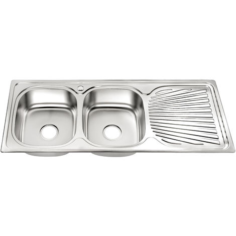 120CM Stainless steel double built-in sink LINKS Stainless steel sink Kitchen sink 2 basins