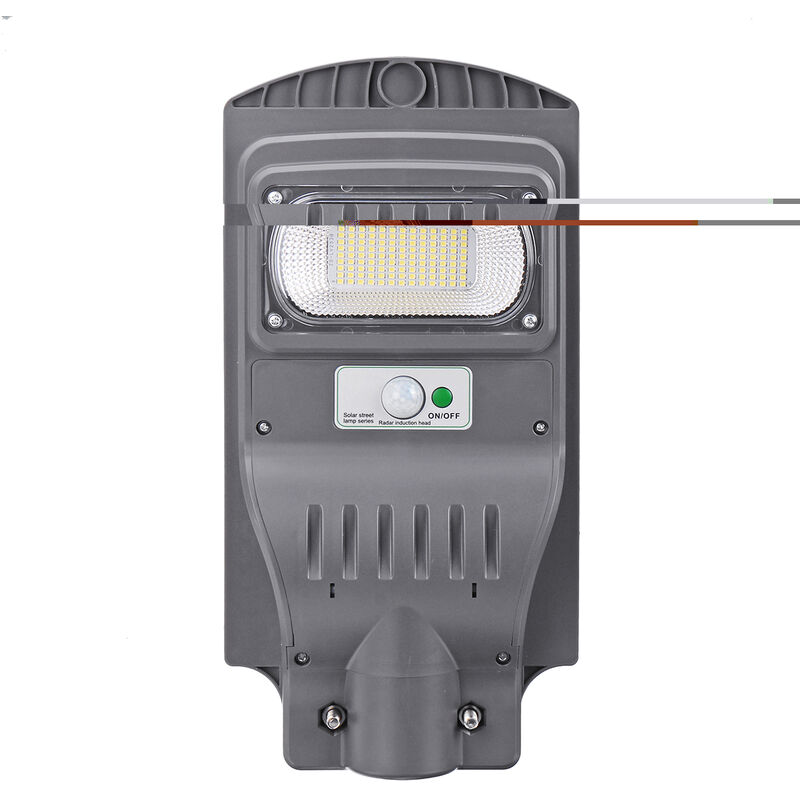 Image of 120W 7000K Led Waterproof Wall Street Light Solar Panel Radar Sensor Lamp 117 * 3030 Led + Remote Control