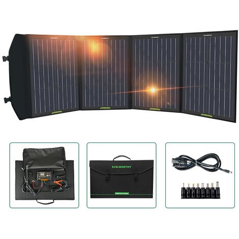 120W Foldable Solar Panel Mono Charger for Generator/USB Mobile Phone Laptop