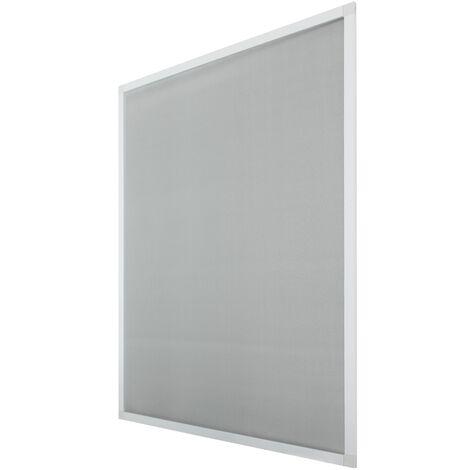 120x140cm Moustiquaire pour fenêtre avec cadre blanc en aluminium avec fixations