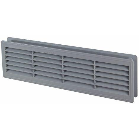 120x440mm Internal Door Plastic Ventilation Grille Air Vent Collar Grey Colour