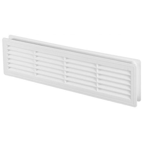 120x440mm Internal Door Plastic Ventilation Grille Air Vent Collar White Colour