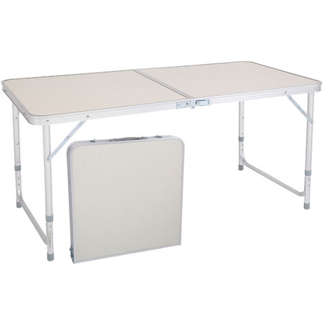"""main image of """"120x60x70cm 4Ft Extendable Folding Multipurpose Lightweight Camping Picnic Table White"""""""