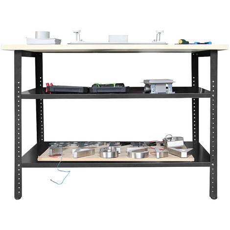 120x60x85cm tabli table d 39 atelier r glable table de. Black Bedroom Furniture Sets. Home Design Ideas