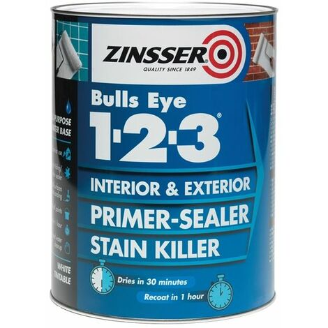"""main image of """"Zinsser Bulls Eye 1-2-3 - Primer-sealer - Stain Killer - All Sizes"""""""