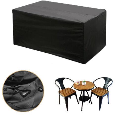 123X61X72cm Negro Durable A prueba de polvo equipado Negro Caballete Cubierta de mesa Muebles de jardín Cubiertas impermeables Hasaki